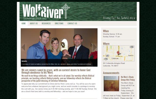homepage of wolfriverchurch.org