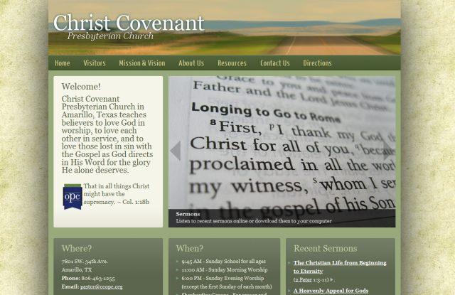 image of Christ Covenant Presbyterian Church (OPC) homepage