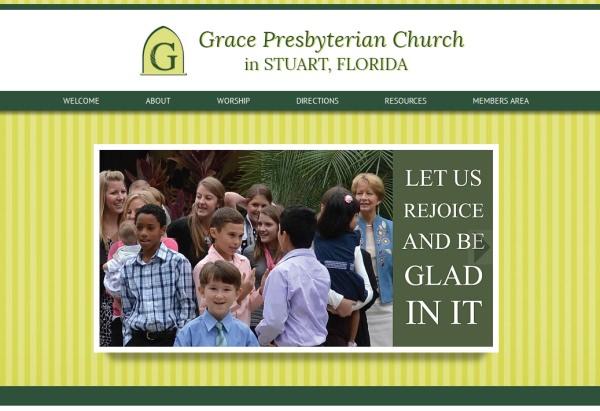 screenshot of Grace PCA homepage