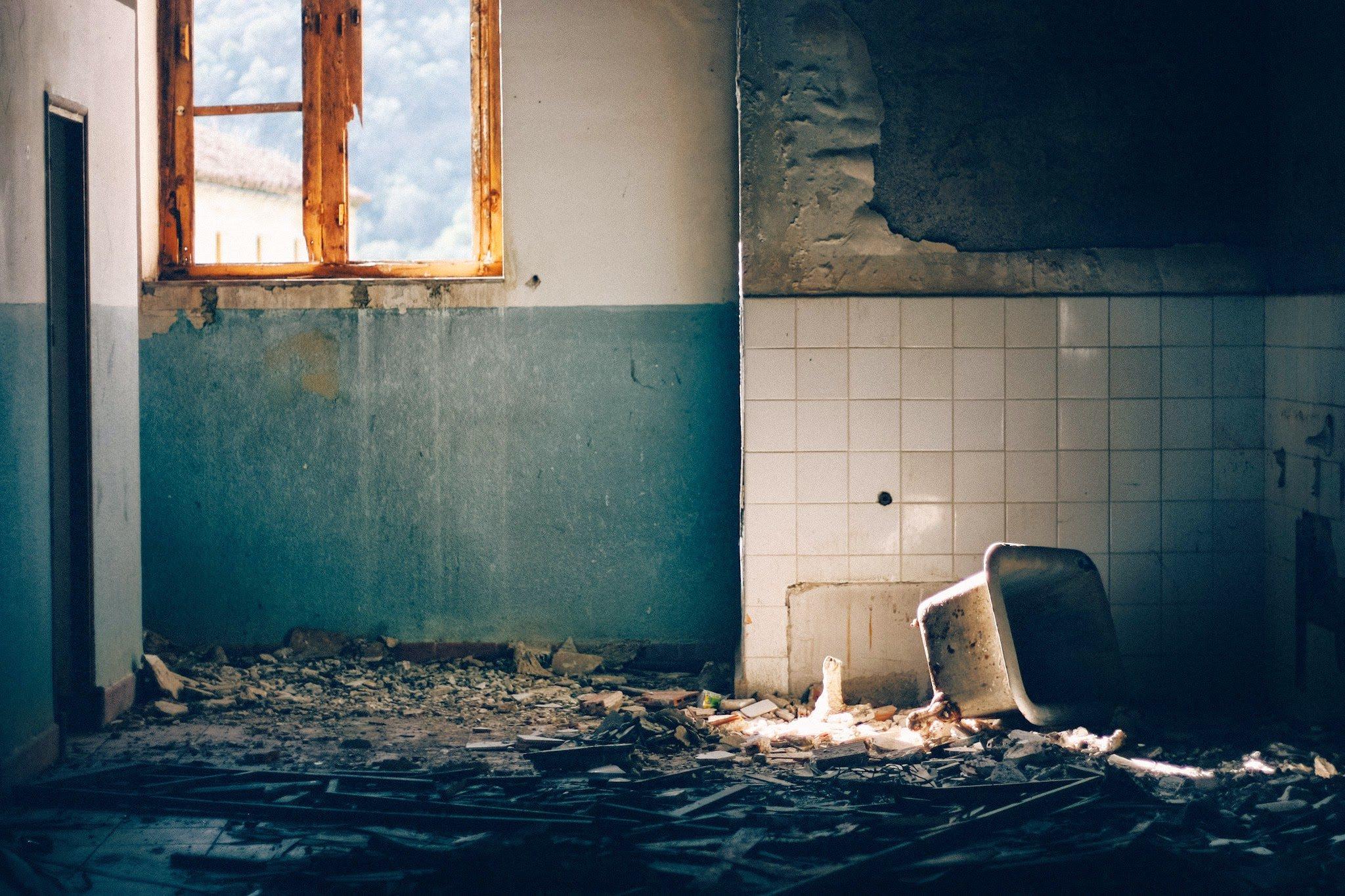 Neglected, rusty, falling apart