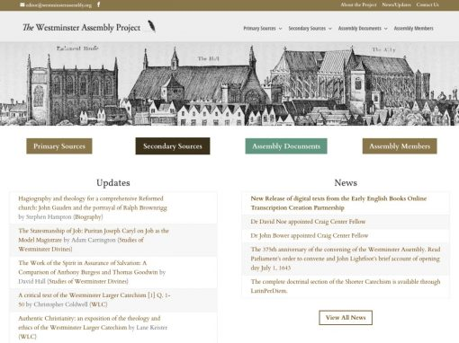 The Westminster Assembly Project